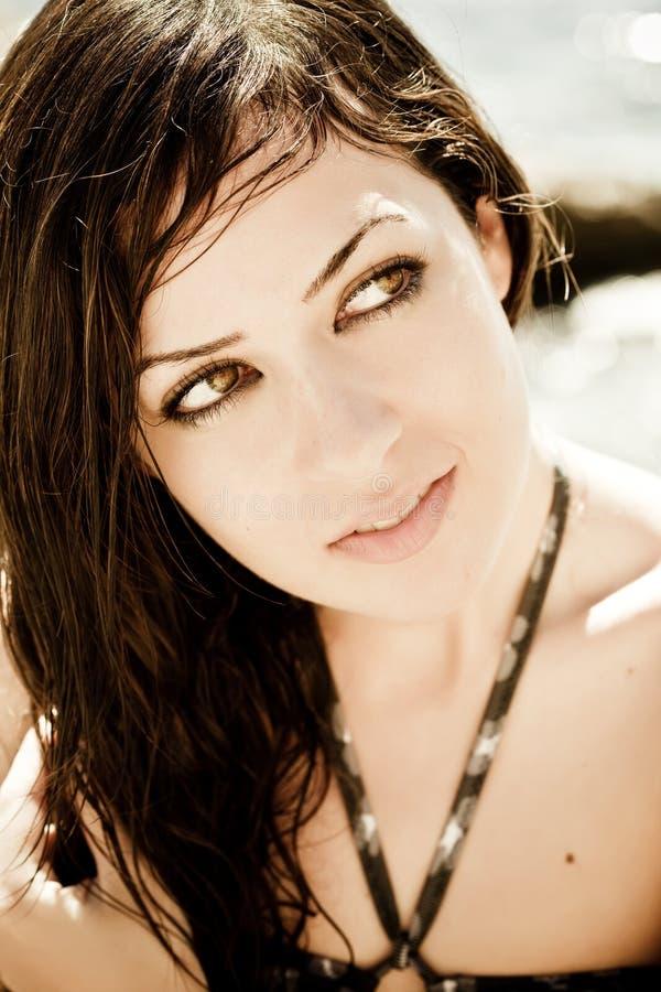 portreta cukierki kobieta fotografia royalty free