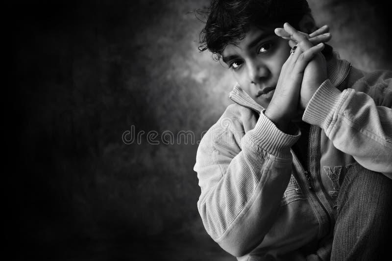 portreta czarny biel zdjęcia royalty free