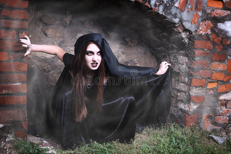 portreta czarownicy potomstwa zdjęcie royalty free
