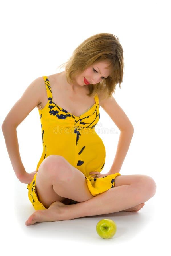 portreta kobieta w ciąży obrazy stock