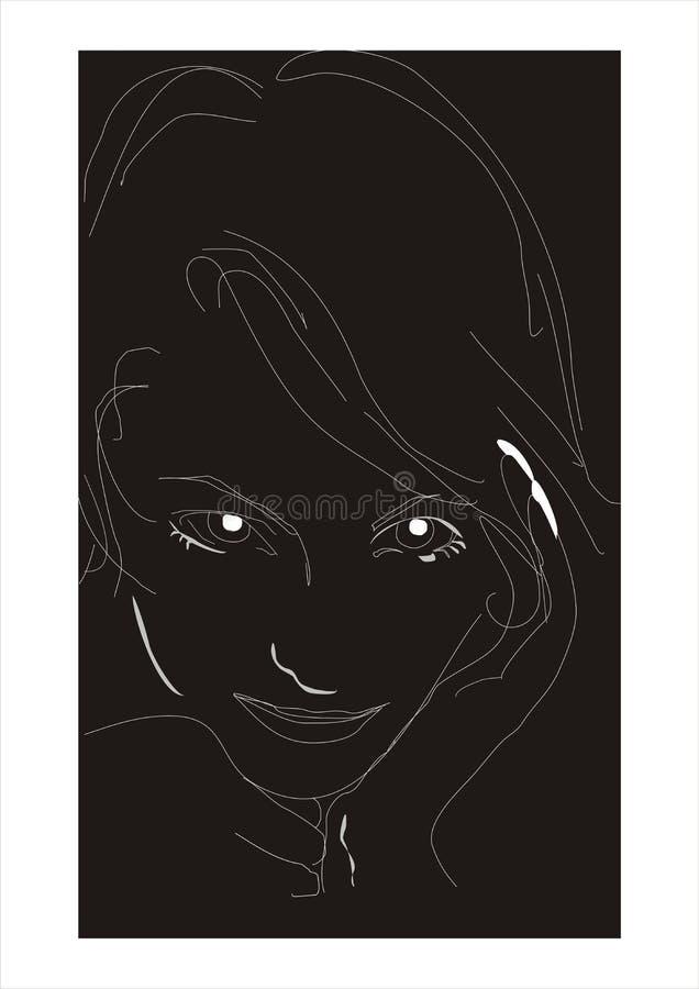 portreta kobiety potomstwa ilustracja wektor