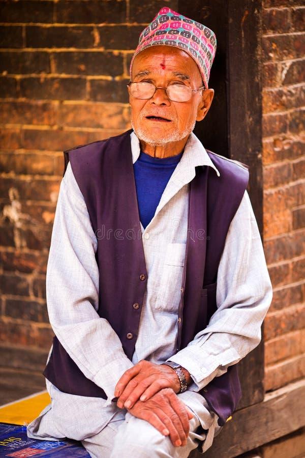 Portreta Nepalski mężczyzna zdjęcia stock