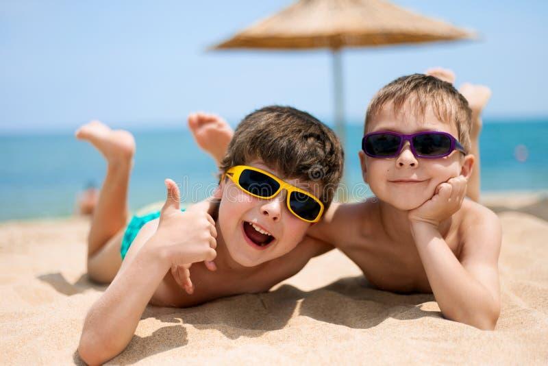 Portreta ot dwa chłopiec zdjęcie royalty free
