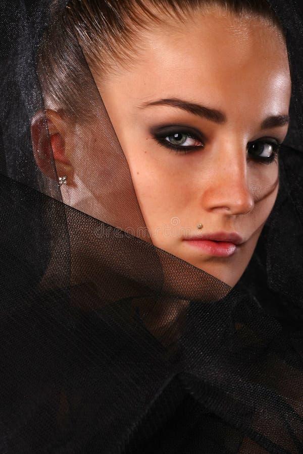 portreta przesłony kobieta zdjęcie royalty free