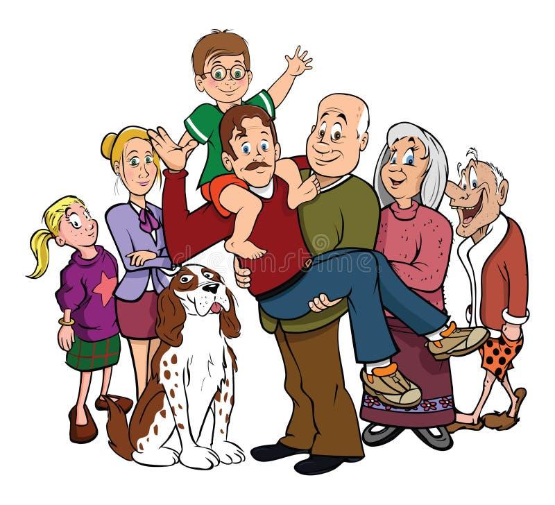 portreta rodzinny spotkanie ilustracji