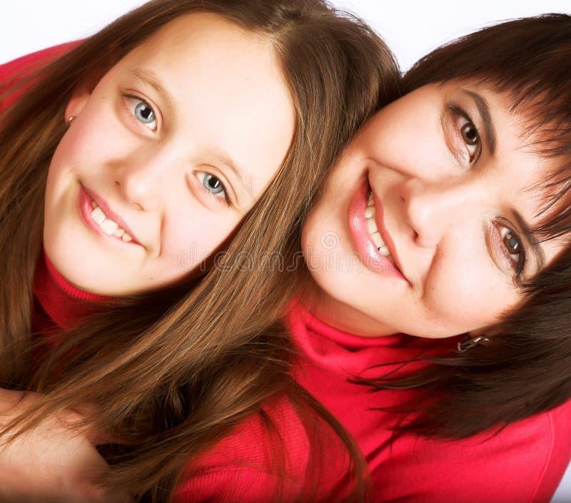 portreta rodzinny szczęśliwy studio fotografia stock