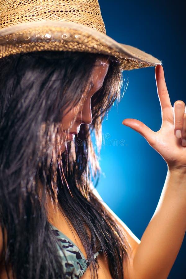 Download Portreta Seksowni Kobiety Potomstwa Obraz Stock - Obraz złożonej z palec, dziewczyna: 13342689