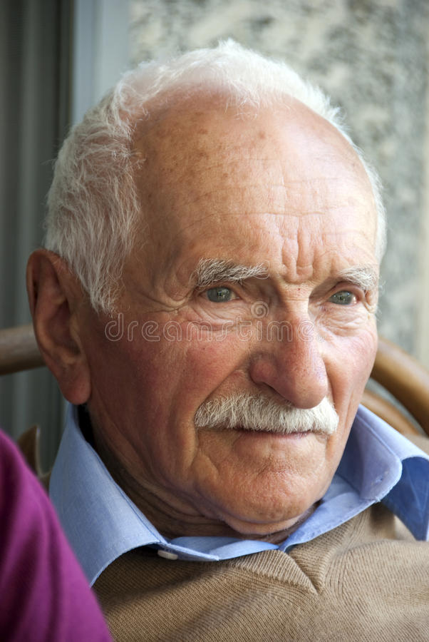 portreta senior obrazy stock