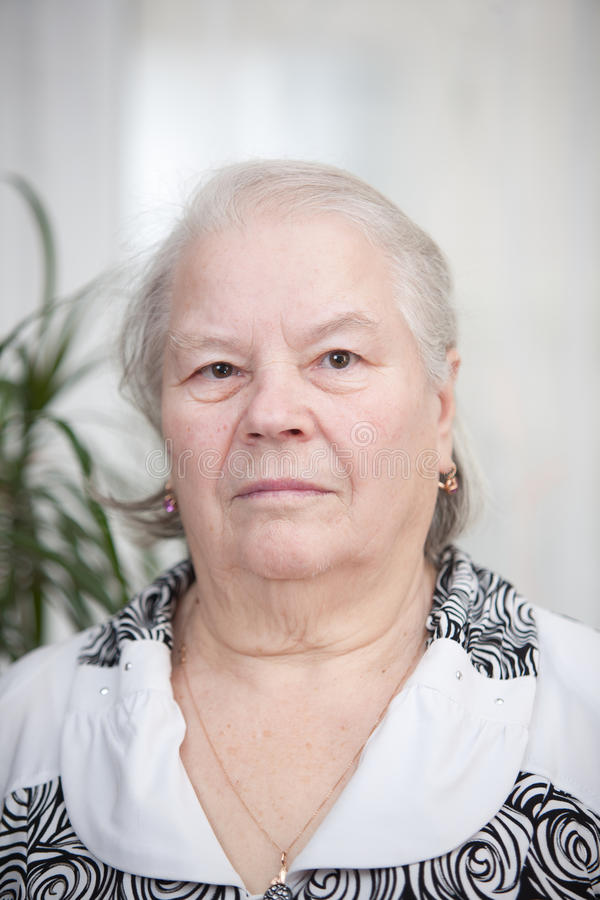 portreta seniora kobieta obrazy royalty free