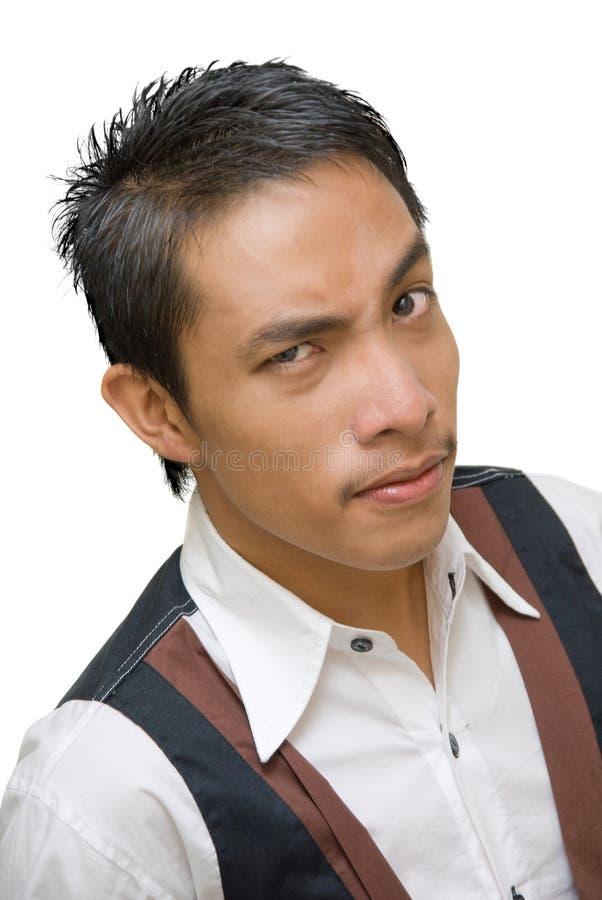 portreta skeptic kelner fotografia stock