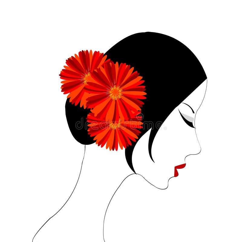 portreta spanish kobieta ilustracji