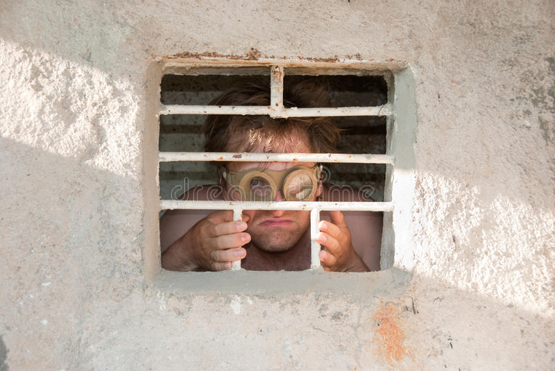 portreta szalony więzień obrazy royalty free