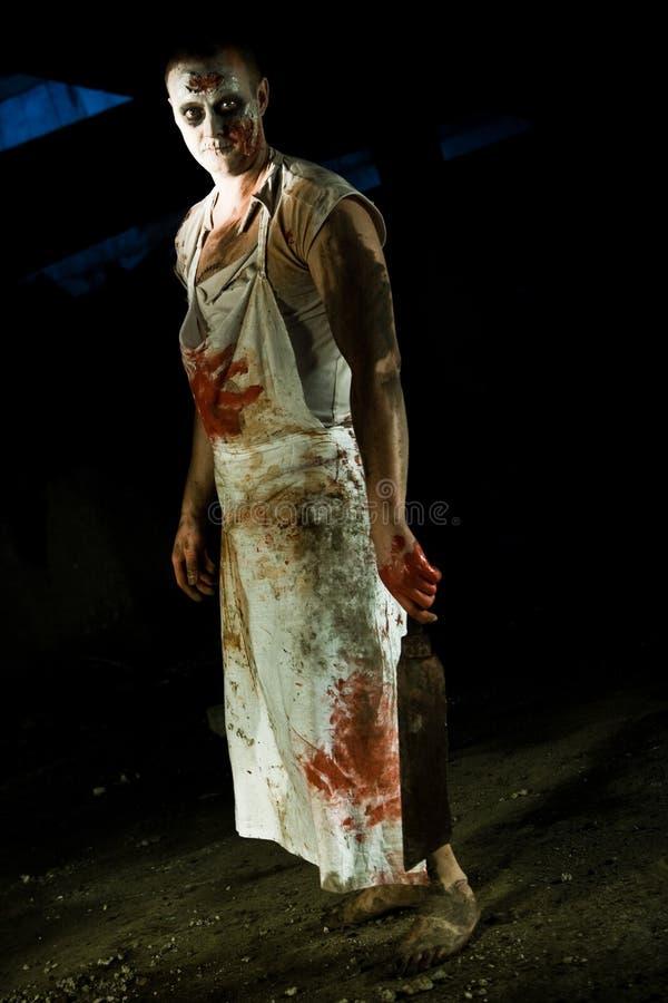 portreta zombi obraz stock