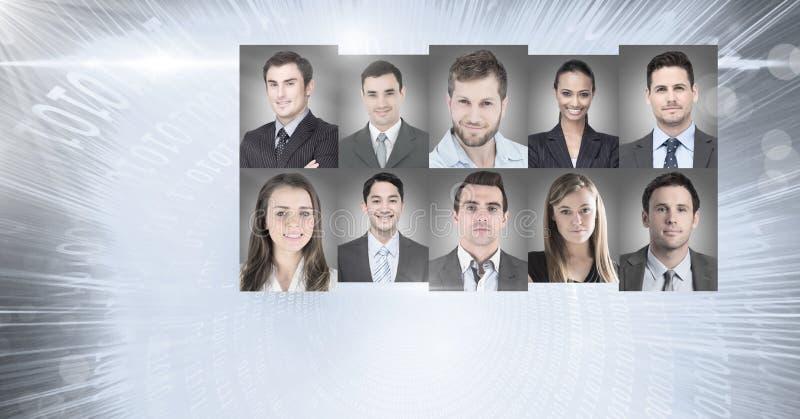 portretprofielen van verschillende mensen stock afbeeldingen