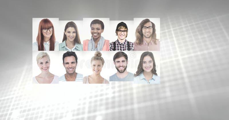portretprofielen van verschillende mensen royalty-vrije stock afbeelding