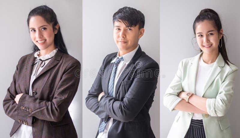 Portretten Aziatische bedrijfsmensen royalty-vrije stock afbeelding