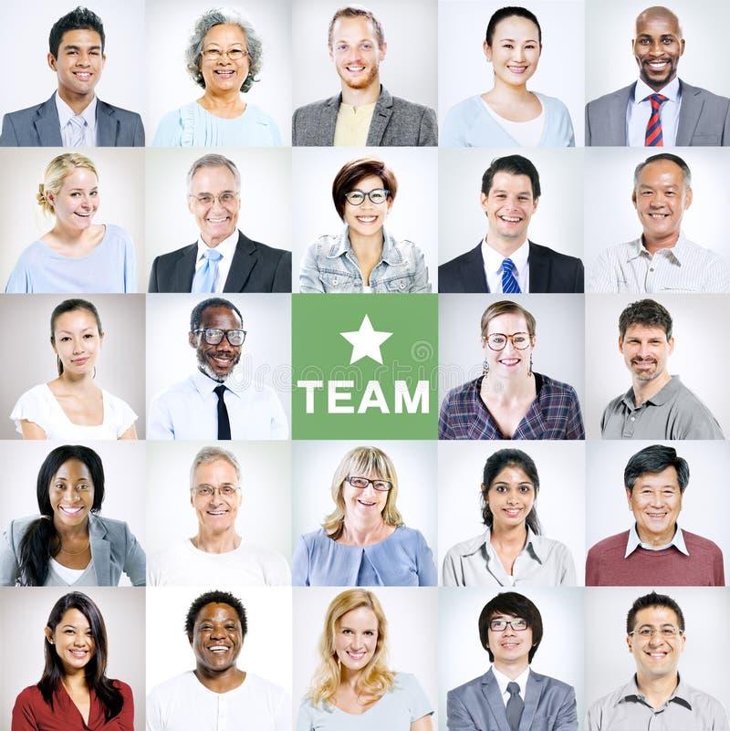 Portretten van Multi-etnische Diverse Bedrijfsmensen royalty-vrije stock afbeeldingen