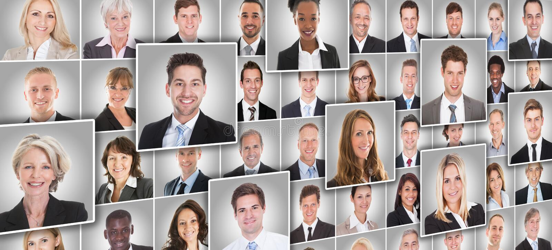 Portretten van Zakenlui royalty-vrije stock foto