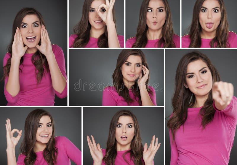 Portrety młoda kobieta fotografia stock