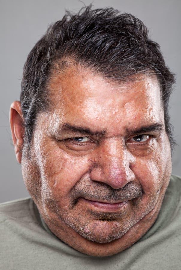 Portriat de um homem idoso fotografia de stock