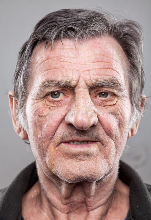 Portriat di un uomo anziano fotografie stock