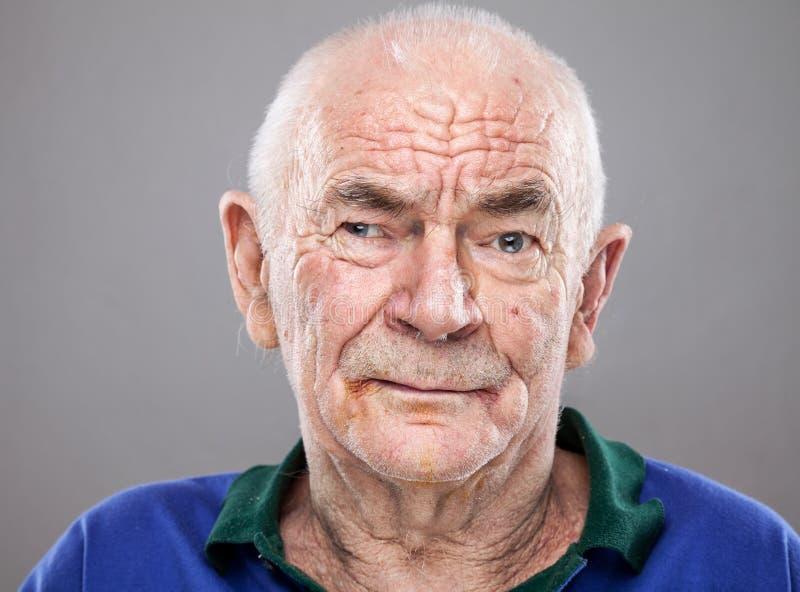 Portriat starszy mężczyzna obrazy royalty free