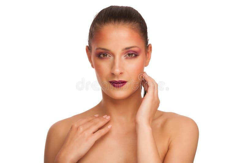 Portrit di bellezza di bella donna castana immagini stock