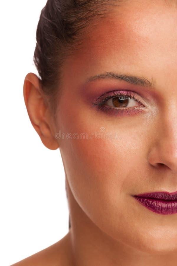 Portrit di bellezza di bella donna castana fotografia stock libera da diritti
