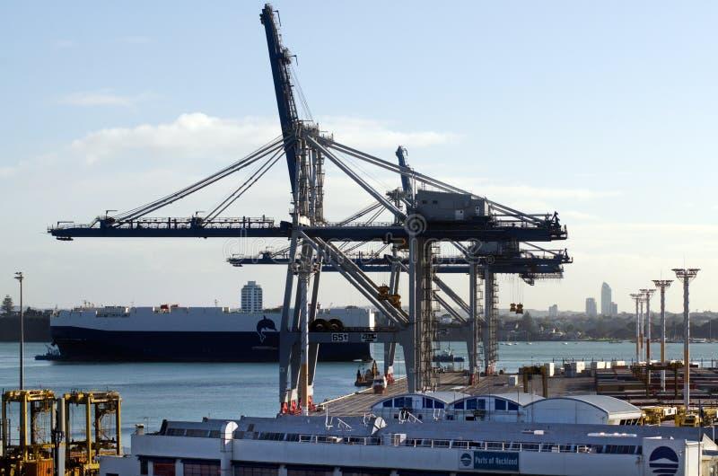 Ports d'Auckland photos stock