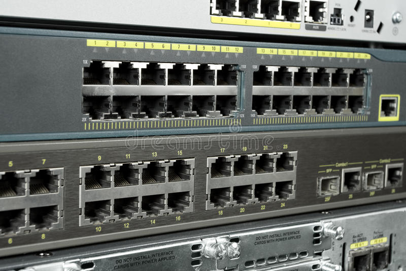 Ports d'Ethernet images libres de droits