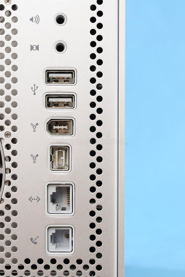 ports d'ordinateur photo stock