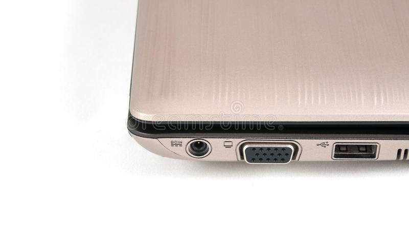Download Ports Laptop Isolate Background Stock Image - Image: 24408719