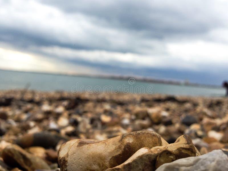 Portsmouth beach stock photo