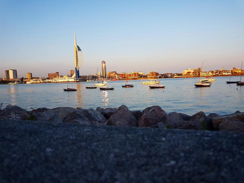 Portsmouth hamn arkivfoton