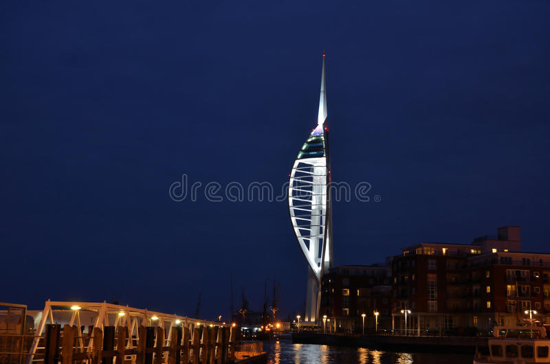 Portsmouth Harbour By Night Editorial Image