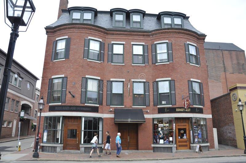 Portsmouth, 30 Juni: De historische Bouw van Portsmouth Van de binnenstad in New Hampshire van de V.S. stock foto