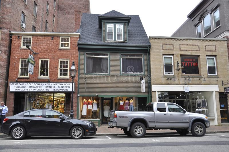 Portsmouth, 30 Juni: Historische Gebouwen van Portsmouth Van de binnenstad in New Hampshire van de V.S. royalty-vrije stock afbeeldingen