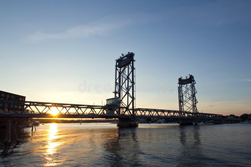Portsmouth, New Hampshire Bridge royalty free stock images