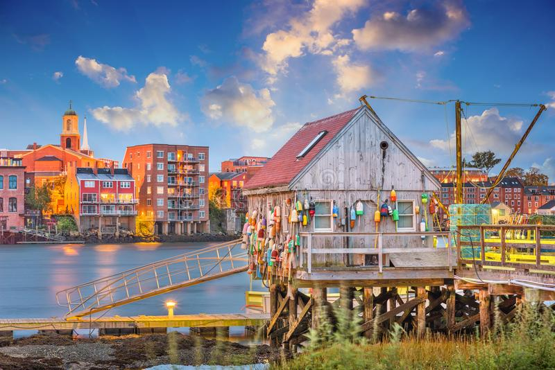 Portsmouth New Hampshire, USA arkivfoto