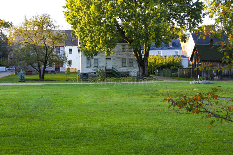 PORTSMOUTH, NH, USA - September 30, 2012: Strawbery Banke is an outdoor history museum stock photos