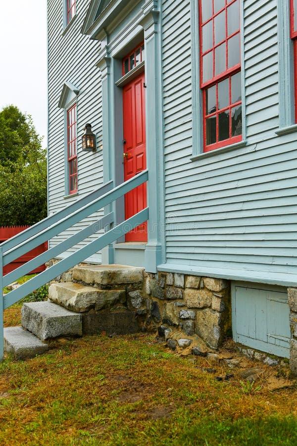 PORTSMOUTH, NH, usa - Wrzesień 30, 2012: Wheelwright dom przy Strawbery Banke muzeum zdjęcia royalty free