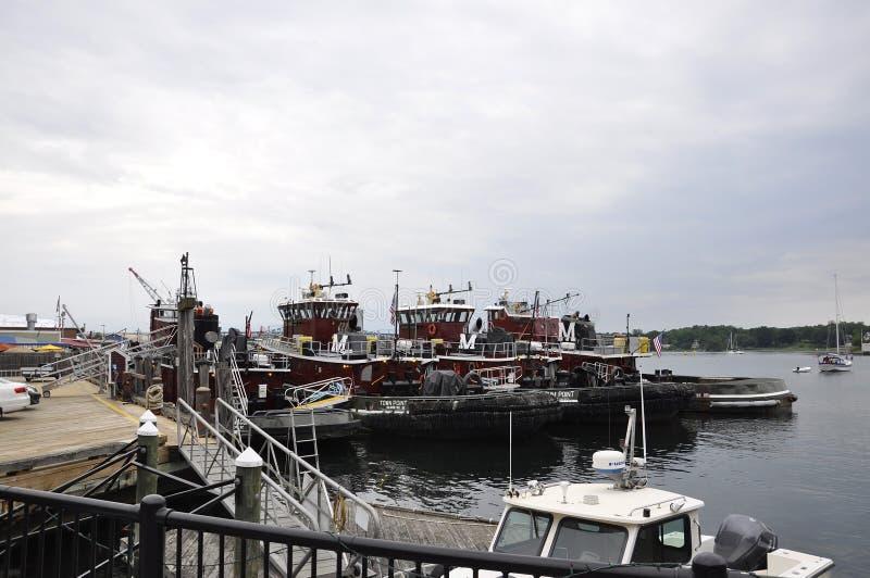 Portsmouth, o 30 de junho: Porto velho de Portsmouth de New Hampshire dos EUA foto de stock