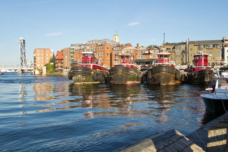 Portsmouth, Oude Haven stock fotografie