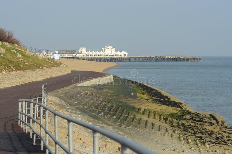 Portsmouth sjösida hampshire england arkivbild