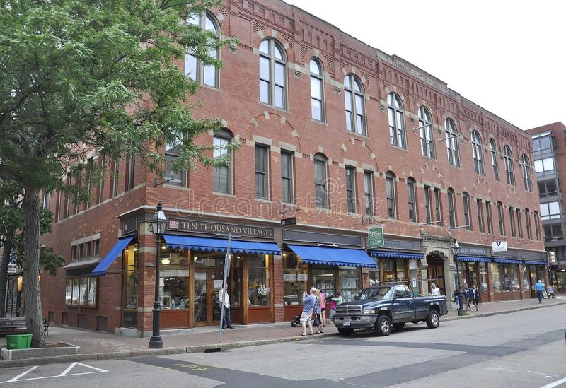 Portsmouth, 30th June: Historic Building from Downtown Portsmouth in New Hampshire of USA royalty free stock photo