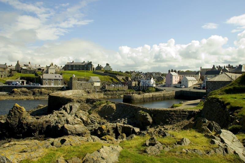 Portsoy Hafen, Schottland lizenzfreies stockbild