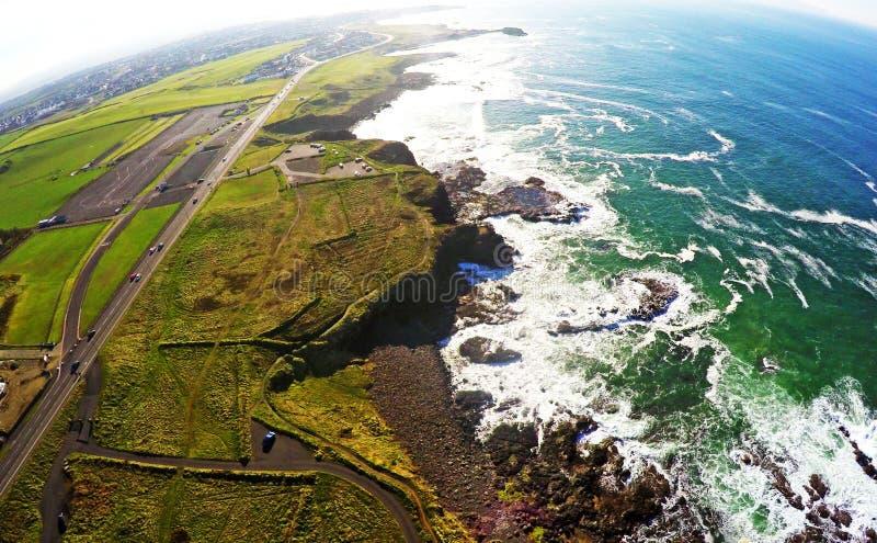 Portstewart Co.Antrim Northern Ireland. Portstewart Glenarm Cushendun Co.Antrim Northern Ireland ireland Dunluce Castle Co. Antrim Northern Ireland n.i. rathlin stock photo
