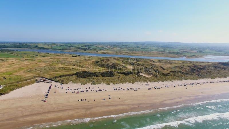 Portstewart pasemka plaży Atlantyckiego oceanu północny wybrzeże Co Antrim P??nocny - Ireland zdjęcie royalty free