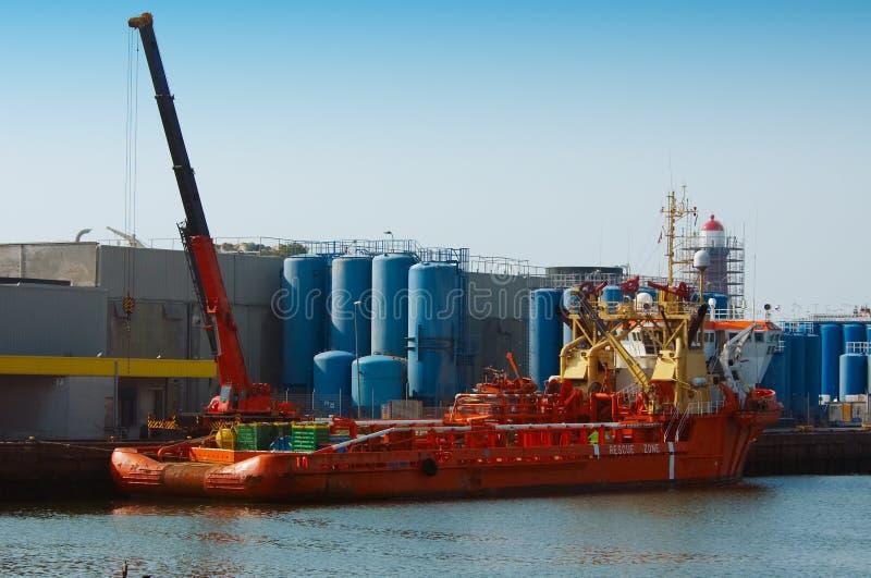 portu statek zdjęcia royalty free