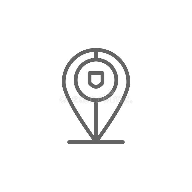 Portugal, ?cone do pino Elemento do ?cone de Portugal Linha fina ?cone para o projeto do Web site e o desenvolvimento, desenvolvi ilustração do vetor